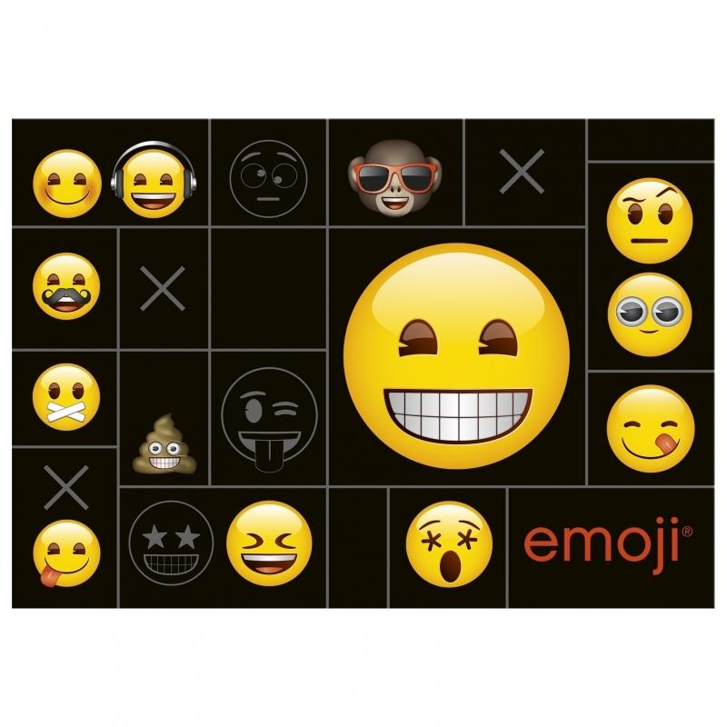 Podkład na biurko twardy oklejany Emoji