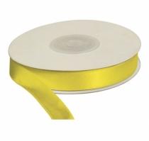 Wstążka satynowa dekoracyjna żółta 12mm/25m