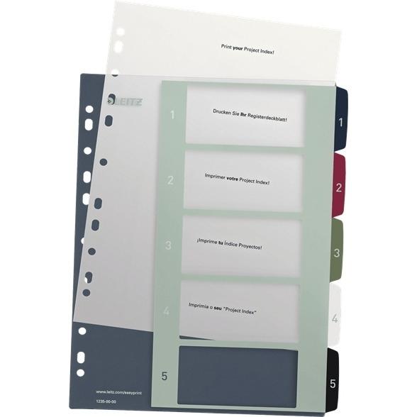 Przekładki plastikowe LEITZ STYLE 1-5