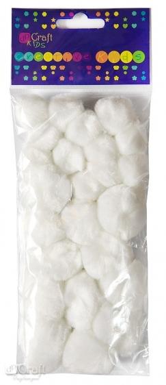 Pompony akrylowe mix białe 24szt.  Dalprint