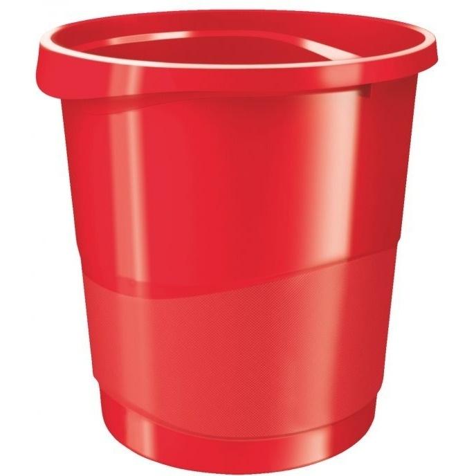 Kosz na śmieci ESSELTE EUROPOST VIVIDA 14l czerwony