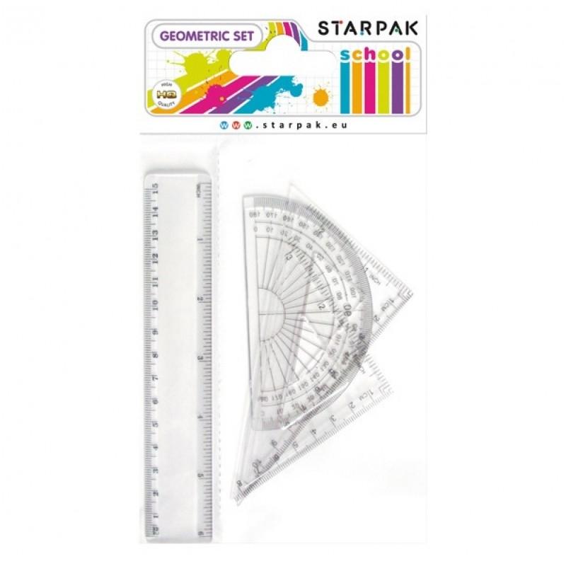 Komplet geometryczny 15cm 4-el. Starpak