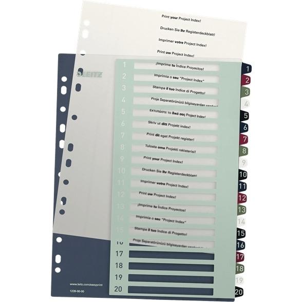 Przekładki plastikowe LEITZ STYLE 1-20