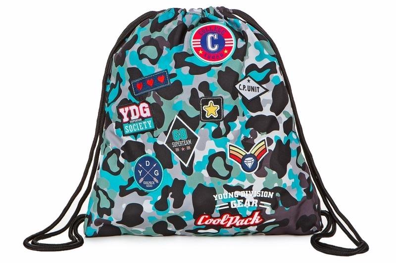 Worek na obuwie Coolpack Sprint Camo Blue