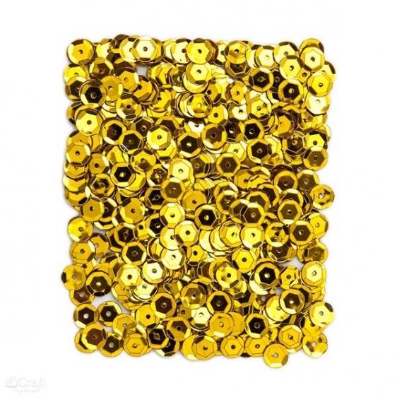 Cekiny metaliczne 9mm 15g złote  Dalprint