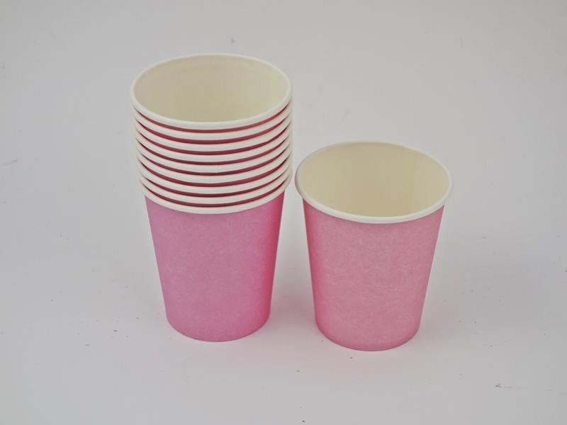 Kubek papierowy kolor różowy 270ml A`10