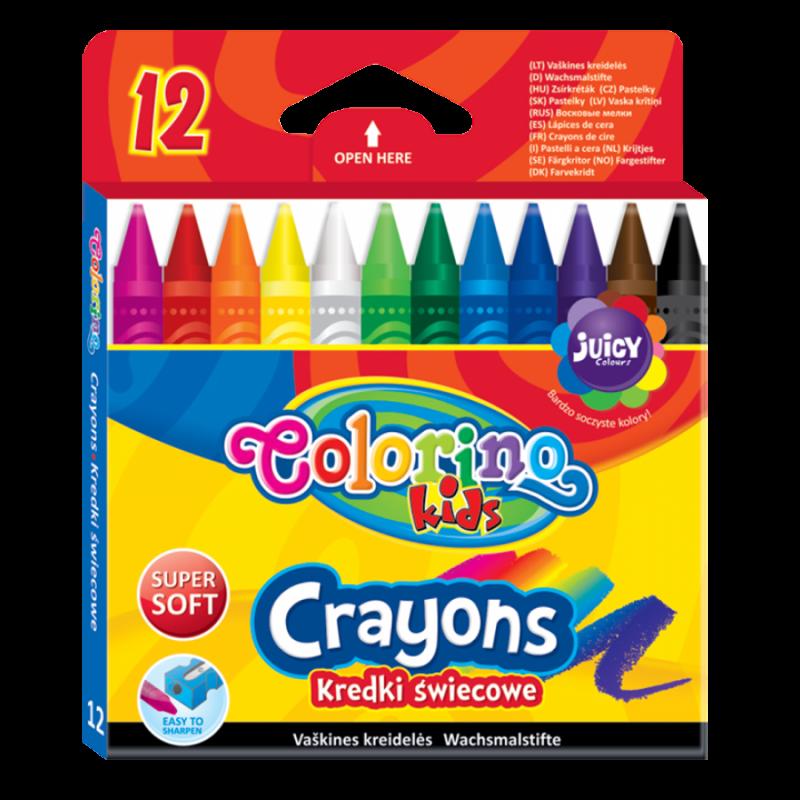 Kredki świecowe 12 kolorów Colorino