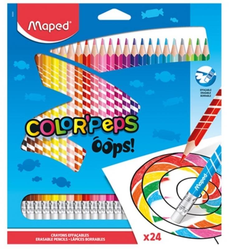 Kredki ołówkowe trójkątne 24 kol. Colorpeps Oops