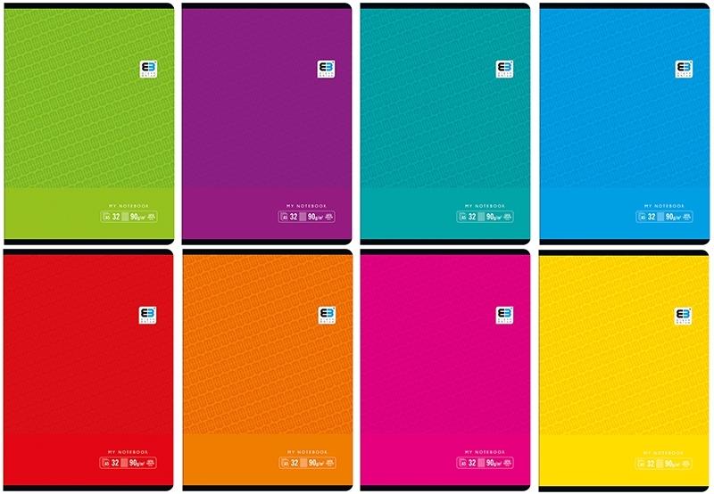 Zeszyt A5/32 kart.kratka BLACK&BLUE