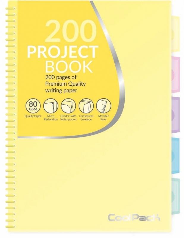Kołozeszyt B5 200str Pastel żółty Coolpack