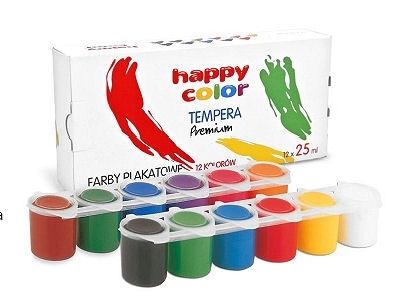 Farby plakatowe Happy Color 12 kolorów