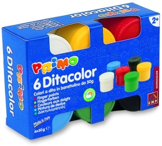 Farby do malowania palcami Ditacolor 6 kol