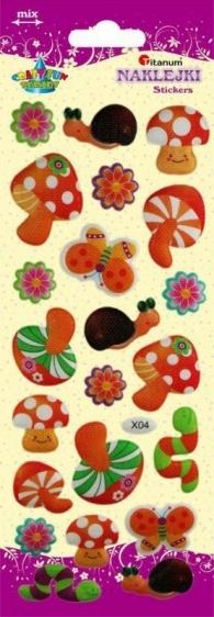 Naklejki dekoracyjne  grzyby 22szt Titanum