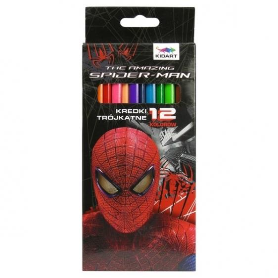 Kredki ołówkowe trójkatne THE AMAZING SPIDER-MAN 12 kolorów