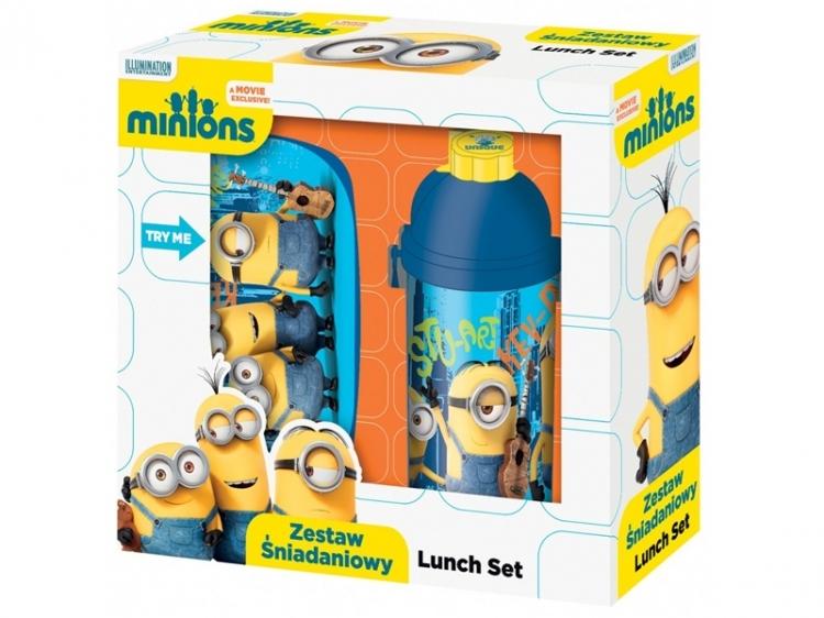 Zestaw śniadaniowy Minionki seria  niebieska
