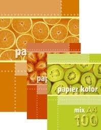 Papier kolorowy intensywny A4 MIX op.100 szt.