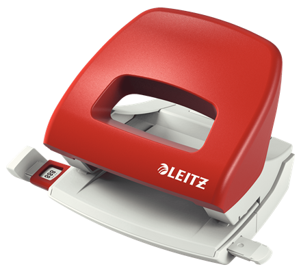 Dziurkacz biurowy Leitz New Nexxt czerwony do 16 kartek