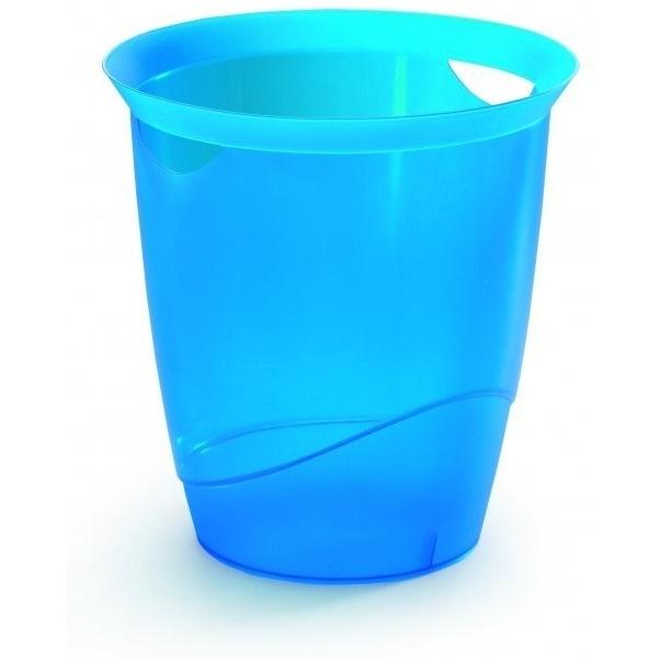 Kosz na śmieci 16l TREND niebieski -przezroczysty DURABLE