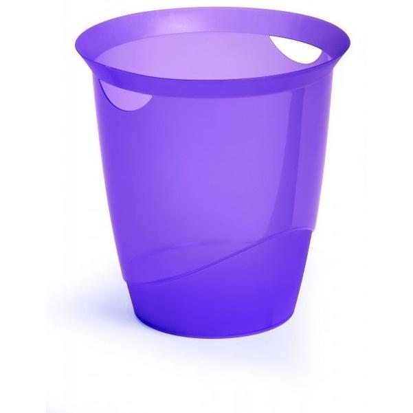 Kosz na śmieci 16l TREND fioletowy przezroczysty DURABLE