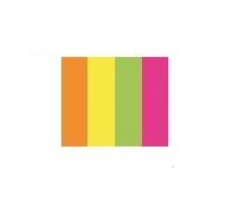 Zakładki indeksujące pap. neon 20x50x4 mm TRES