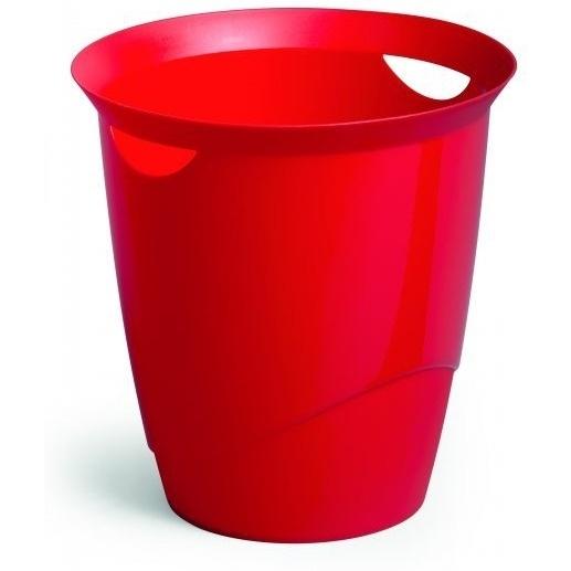 Kosz na śmieci 16l TREND czerwony DURABLE