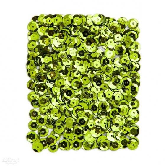Cekiny metaliczne 9mm 15g zielone jasne  Dalprint