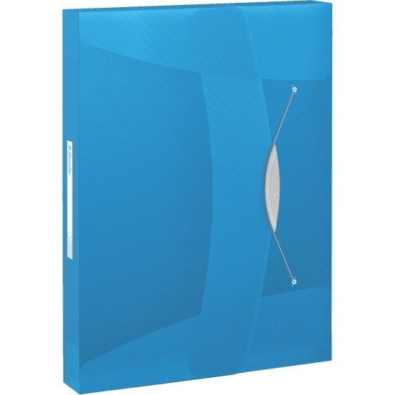 Teczka z gumką Esselte Vivida 40mm niebieska