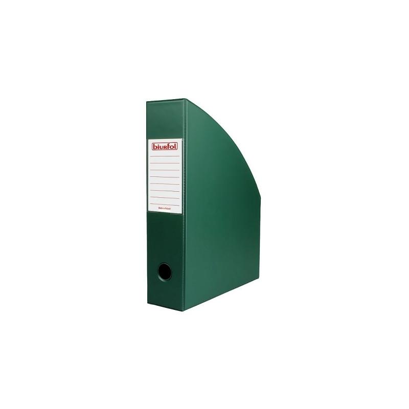 Pojemnik na czasopisma A4 7cm ciemno zielony  PCV Datura/Natuna