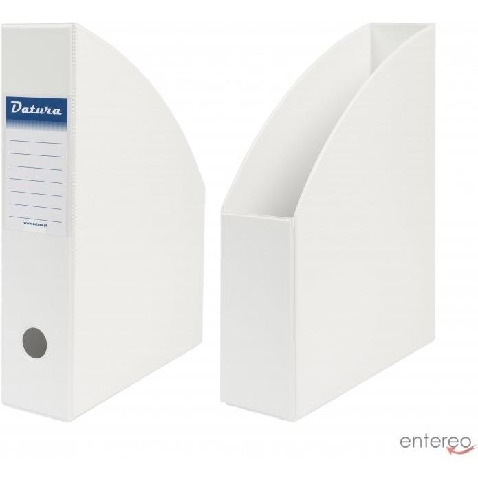 Pojemnik na czasopisma A4 7cm biały PCV Datura/Natuna