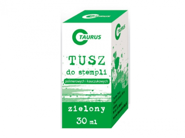 Tusz do stempli 30ml zielony Taurus