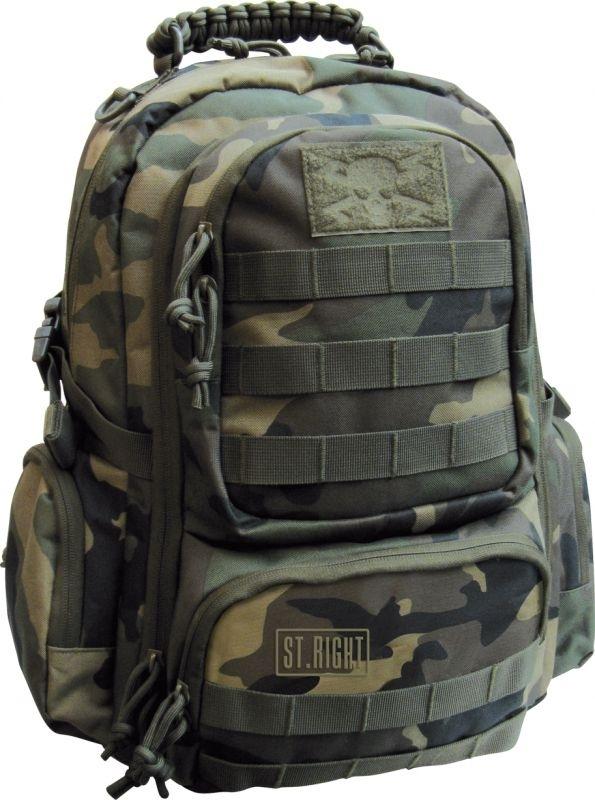 Plecak młodzieżowy St.Right Military Woodland Camo BP36