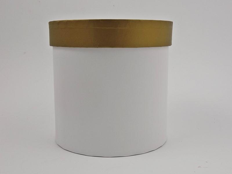 Pudło ozdobne  biało-złote 12x12cm