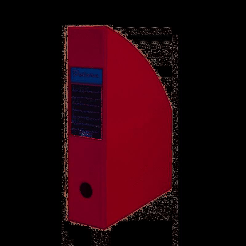Pojemnik na czasopisma A4 10cm bordowy  PCV Datura