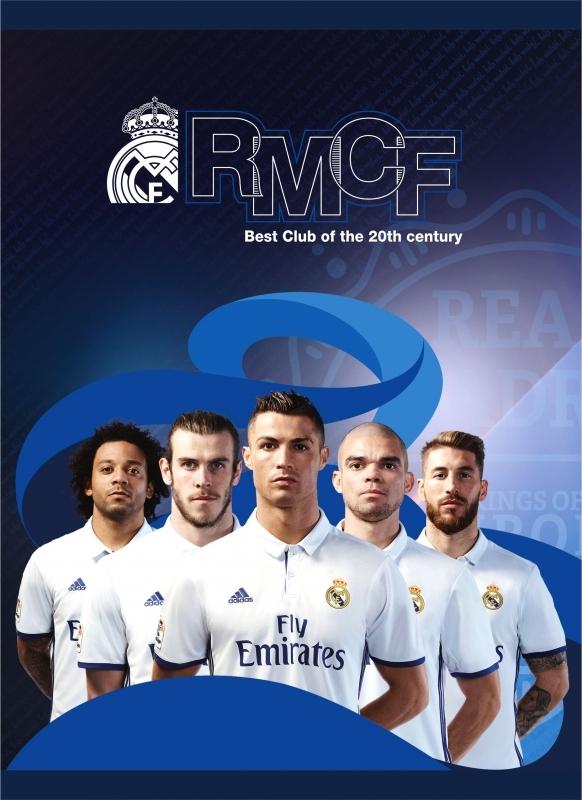 Zeszyt A5/16k trzylinia kolor Real Madrid RM3