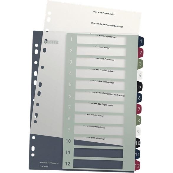 Przekładki plastikowe LEITZ STYLE 1-12