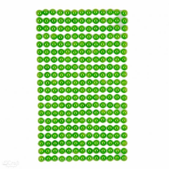 Perły samoprzylepne 6mm 260szt. zielone