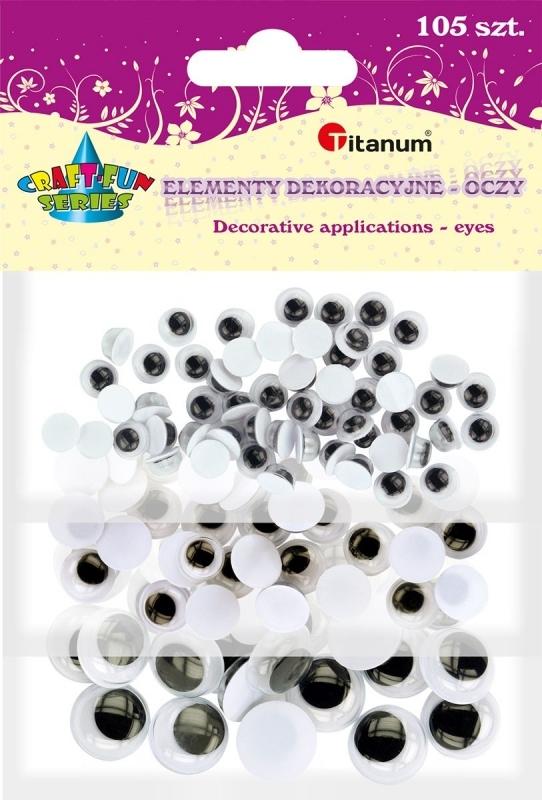 Oczy dekoracyjne kreatywne czarne mix A`105