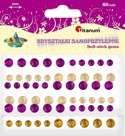 Kryształki samoprzylepne kreatywne okrągłe 5-7mm 60szt