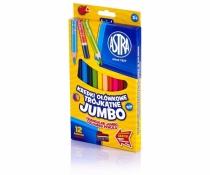 Kredki ołówkowe trójkątne Jumbo 12 kolorów Astra