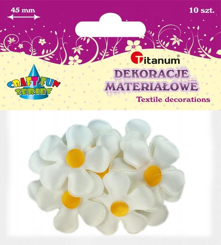 Dekoracje materiałowe kwiaty margaretki 45 mm A`10