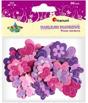 Dekoracja piankowa samoprzylepna motyle i kwiaty 3,5-5cm 36szt