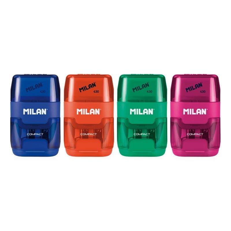 Temperówka podwójna z gumką Compact Milan
