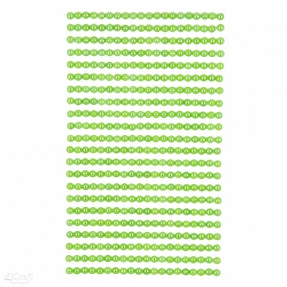 Perły samoprzylepne 4mm 440szt. zielone
