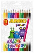 Kredki ołówkowe sześciokątne JUMBO 12 kolorów FUN&JOY