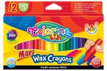 Kredki woskowe Maxi 12 kolorów Colorino