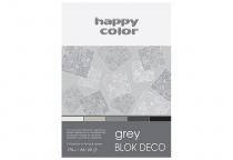 Blok techniczny DECO A5/20 170g 5 odcieni szaro-czarnych