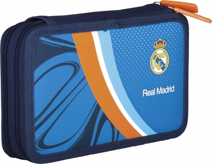 Piórnik podwójny z wyposażeniem Real Madrid RM-40