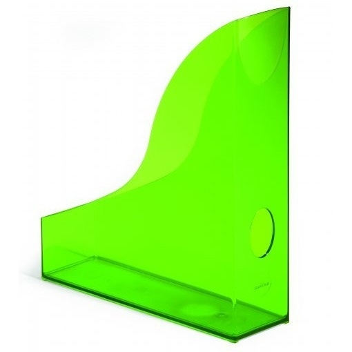 Pojemnik na czasopisma Basic A4 zielony - przezroczysty Durable