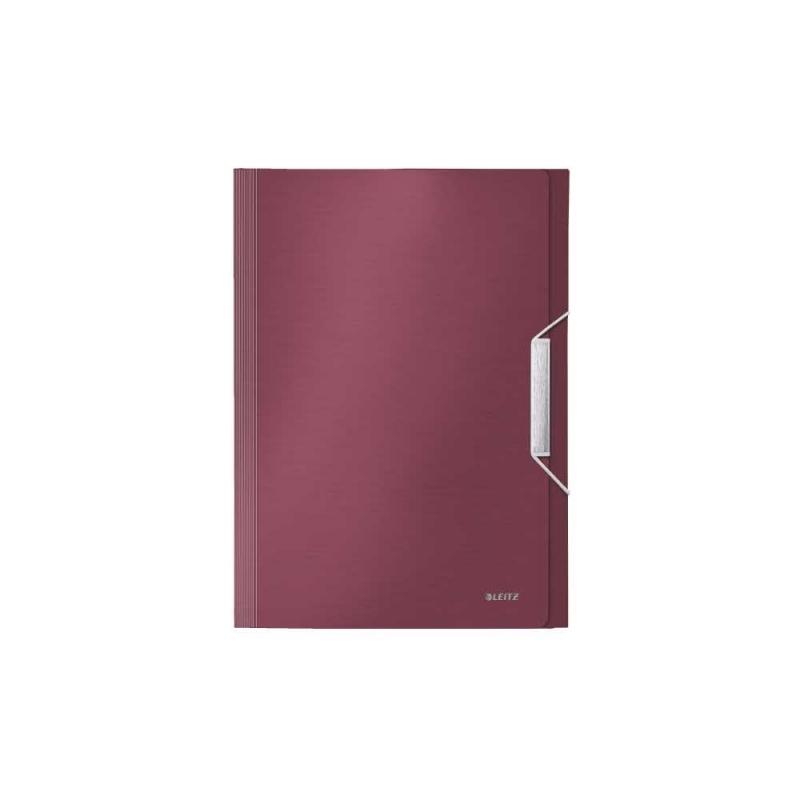 Teczka 6 przegródek Leitz Style A4 Ciemnoczerwona
