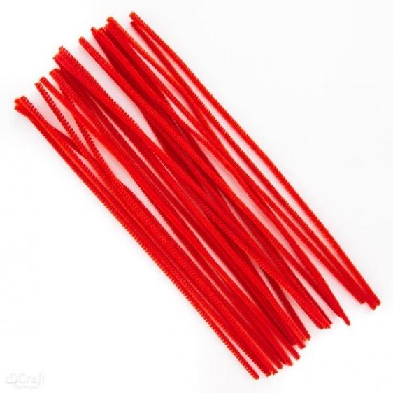 Druciki kreatywne  30 cm op. 25 szt czerwone Dalprint